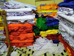 PLAIN POLYSTER Polyester Fabric, GSM: 50-100 GSM, Packaging Size: 39INCH