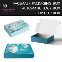 Automatic Lock Face Mask Box