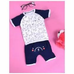 Multicolor Cotton Fancy Baby Dress, Packaging Type: Packet