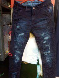 Tom king Comfort Fit Mens Damaged Denim Jeans, Waist Size: 28