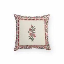 Cotton Canvas Block Printed Cushion