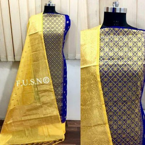 6416e4b143 Banaras Silk Dress Material at Rs 700 /piece | Sadashiv Peth | Pune ...