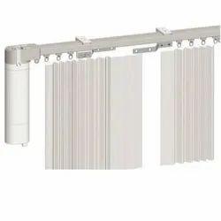 White Remote Control Curtain Track