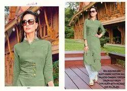 Rachna Cotton Satin Pattern Cut Catalog Kurti With Palazzo For Women 4