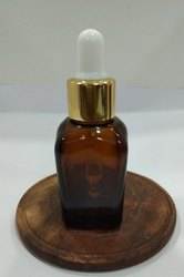 Glass Transparent Square Amber Essential Oil Bottles