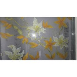 Flower Printed Glass