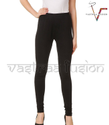 Straight Fit Plain Ladies Regular Wear Legging -black Color