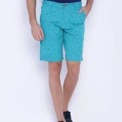 Printed Turquoise Blue RF Mens Shorts