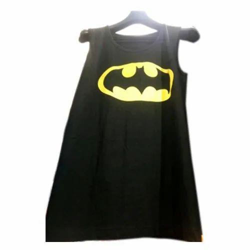 462a0d59 Cotton Round Mens Printed Sleeveless T Shirt, Size: Medium, Rs 100 ...