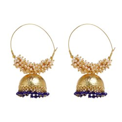 Wedding Golden Artificial Earrings