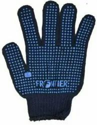 Blue Cotton Frontier Single Dotted Hand Gloves, Size: Free