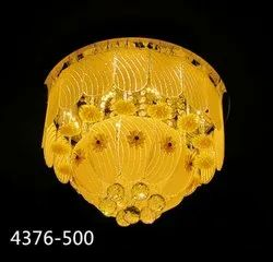 Glass Round Led Chandelier