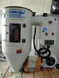 Stainless Steel Plastic Granule Hopper Dryer, Capacity: 25 Kg