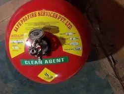 Safepro Mild Steel Clean Agent Modular Fire Extinguisher, Capacity: 5Kg