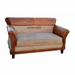 Leather Two Seater Sofa, Warranty: 1 Year
