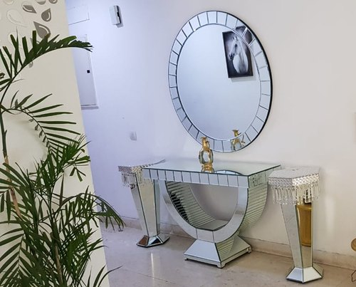 Designer Mirror Console Table For Living Room Hall Way Home Decor By  Venetian Image