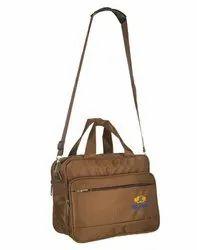 Brown Nylon Laptop Messenger Bag
