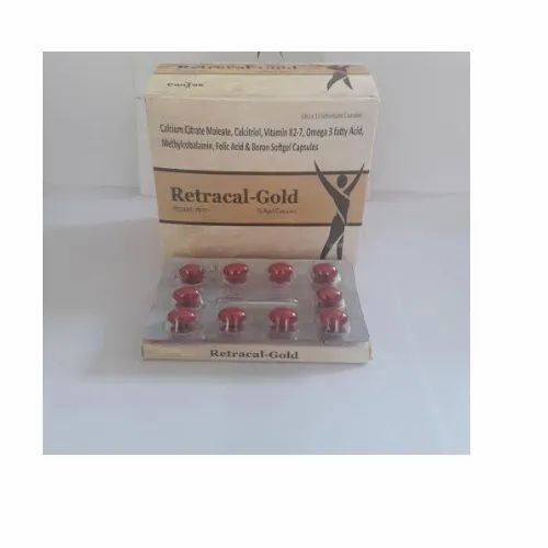 Retracal Gold Softgel Capsules, Packaging Type: Box