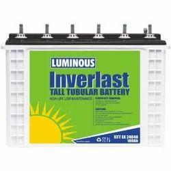 Luminous Inverlast Solar Tall Tubular Battery, For Inverter, Model Name/Number: Iltt Ex 24048