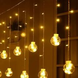 3mtr Plastic ALZ LED CURTAIN LIGHT BALL SHAPE, For Decoration, Plug-in
