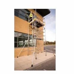 Youngman Boss Aluminum Double Width Scaffold Ladder, Height: 1.2 m to 20 m
