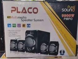 Black Placo 4.1 Multimedia Speaker System Modal No:-Sm/3100, 9900W