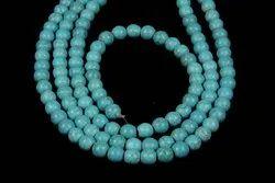 Turquoise Plain Round Gemstone Beads