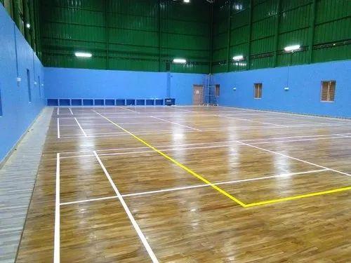 Wooden Badminton Court Flooring