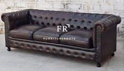 French Style Living Room Chesterfield Single Sofa for Restaurants