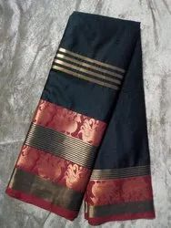 Double Peacock Silk Saree, Length: 6.3 m (With Blouse Piece)