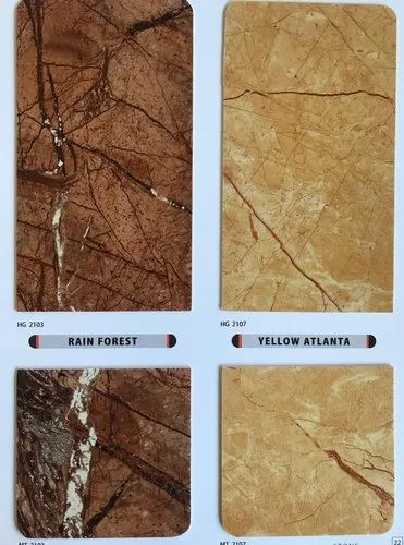 PVC Marble & Wooden Finish Sheets
