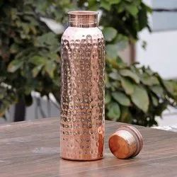 Hammered Copper Water Bottle, Size: 8 Inch
