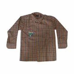 Ruchika Checks Polyester Cotton Check Uniform Shirt, Size: 24-40