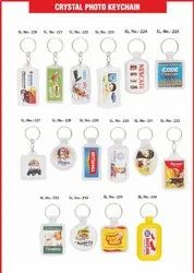 globe Plastic CRYSTAL PHOTO KEY CHAIN, Packaging Type: Packet