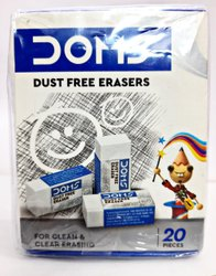 White Rubber Dust-free Erasers, Packaging Type: Packet