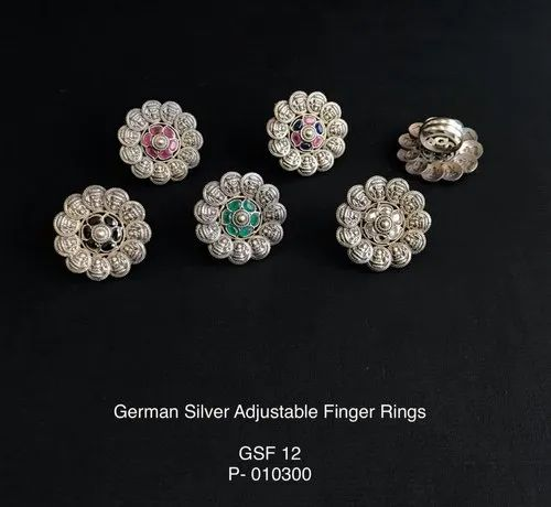 GSF 12 Silver Look Alike Finger Rings