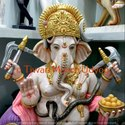 Seating Ganesh Marble Statue