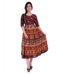 Rajasthani Printed Cotton Frock