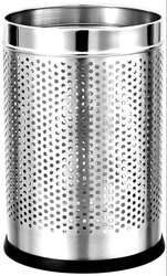Parasnath Stainless Steel Perforated Round Dustbin