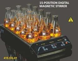 15-Position Digital Magnetic Stirrer (New)