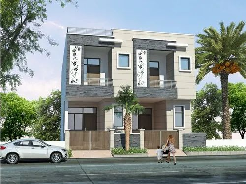 Small Row House Elevation Design In Noida Arch Planest Id