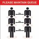 Covid-19 Maintain Queue Poster