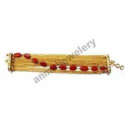 Coral Gold Bracelet