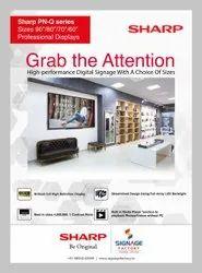 Black Sharp LCD MONITORS PNQ-601, 150W