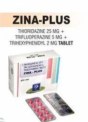 Thioridazine 25 Mg & Trifluoperazine 5 Mg & Trihexyphenidyl 2 Mg Tablet