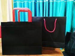 Advance Craftrina Black Kraft Card Board Type Cosmetics Paper Bag ( Black), Capacity: 2kg