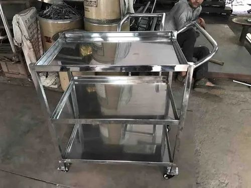Metalic Stainless steel Multi-Purpose Trolley, Capacity: 2 Ton, Size: 500 X 1200