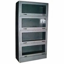 Grey Metal Library Book Case, Size: 66 X 33 X 12