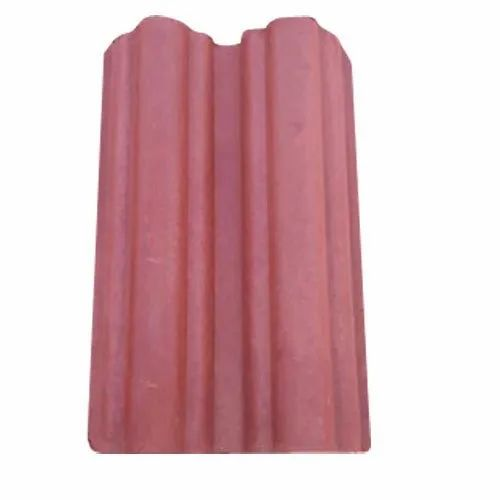 Clay Polished Red Roof Profile Tile