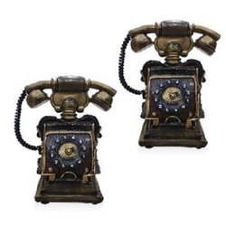 Decorative Brown Antique Telephone
